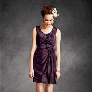 BHLDN Quillaree Silk & Linen Dress in Purple